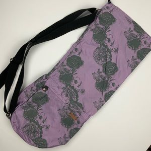 Lululemon Lilac Purple Floral Yoga Mat Bag